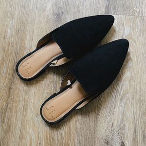 A new day black suede mules